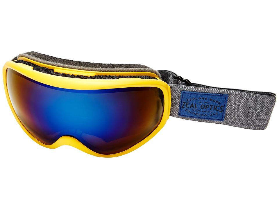 Zeal Optics Forecast (Mayan Gold/Polarized Bluebird HT Lens) Goggles