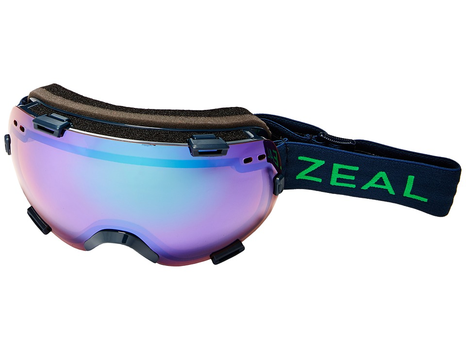 Zeal Optics - Voyager (Midnight Forest/Jade Mirror + Sky Blue Mirror Lens) Goggles