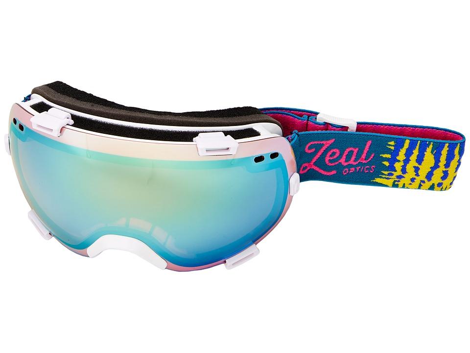Zeal Optics Voyager (Safari White/Alchemy Mirror + Sky Blue Mirror Lens) Goggles