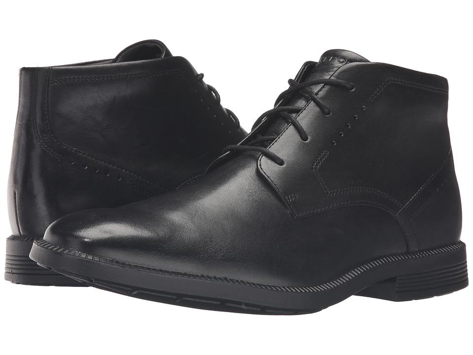 Rockport - Dressports Business Chukka (Black Leather) Men's Shoes
