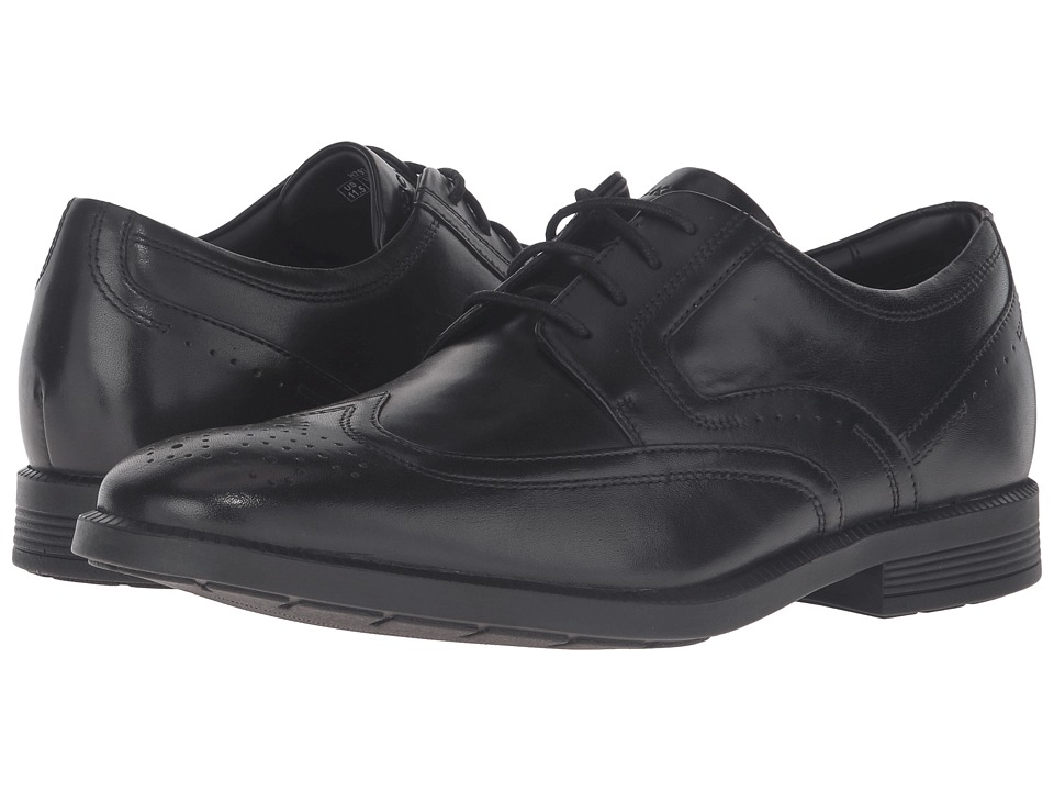Rockport - Dressports Business Wing Tip (Black Leather) Mens Shoes