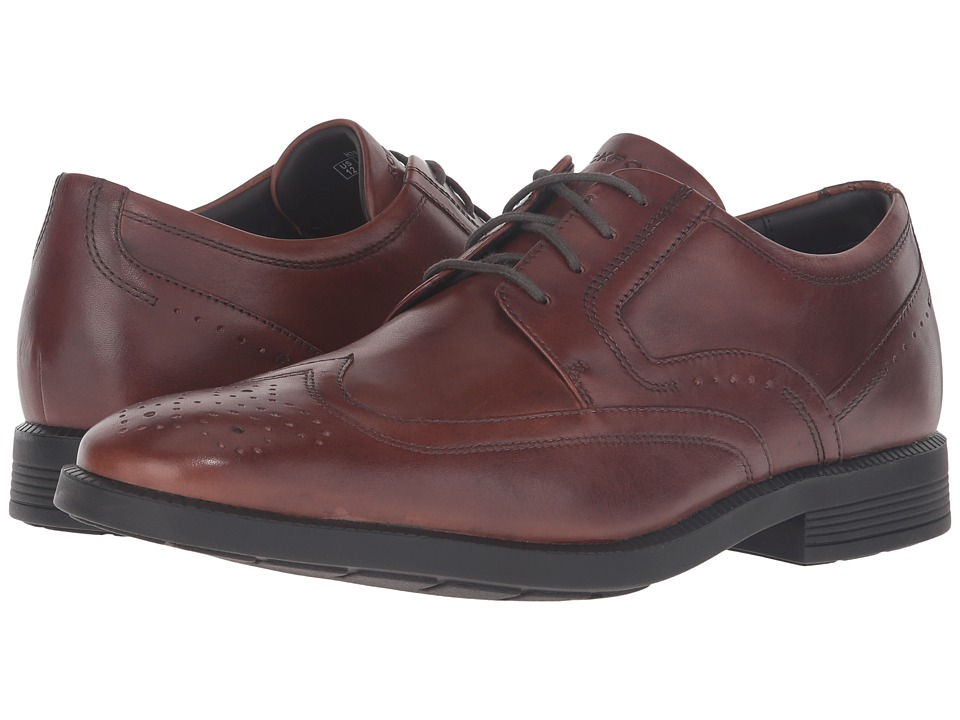 Rockport Dressports Business Wing Tip (New Brown Leather) Men