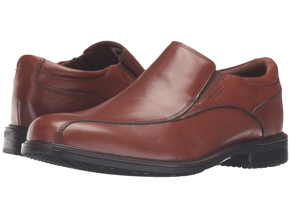 Rockport - Essential Details II Waterproof Bike Toe Slip-On (Tan Antique Leather) Mens Shoes