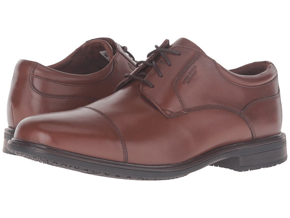 Rockport - Essential Details II Waterproof Cap Toe (Tan Antique Leather) Mens Shoes