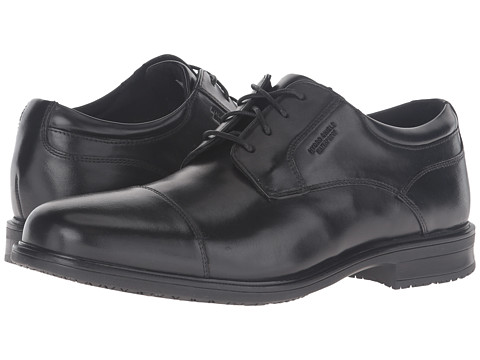Rockport Essential Details II Waterproof Cap Toe - Black Leather