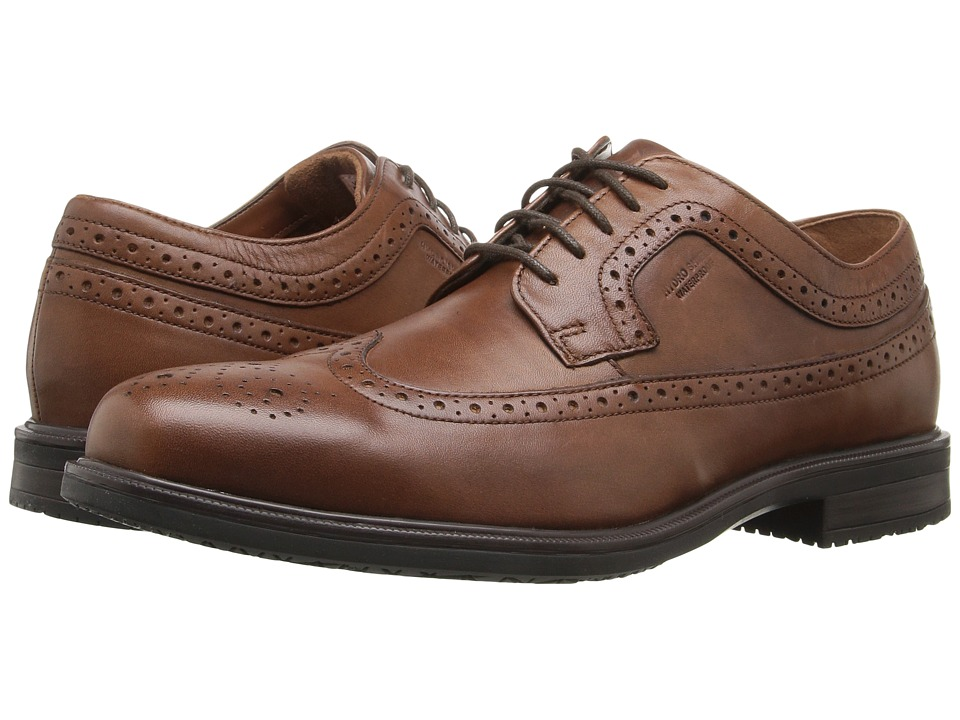 Rockport - Essential Details II Waterproof Wingtip (Tan Antique Leather) Mens Shoes