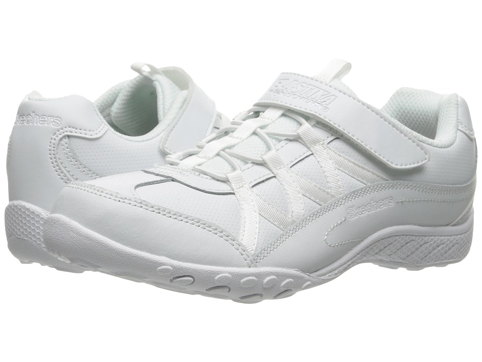 SKECHERS KIDS - Breathe Easy (Little Kid/Big Kid) (White) Girls Shoes