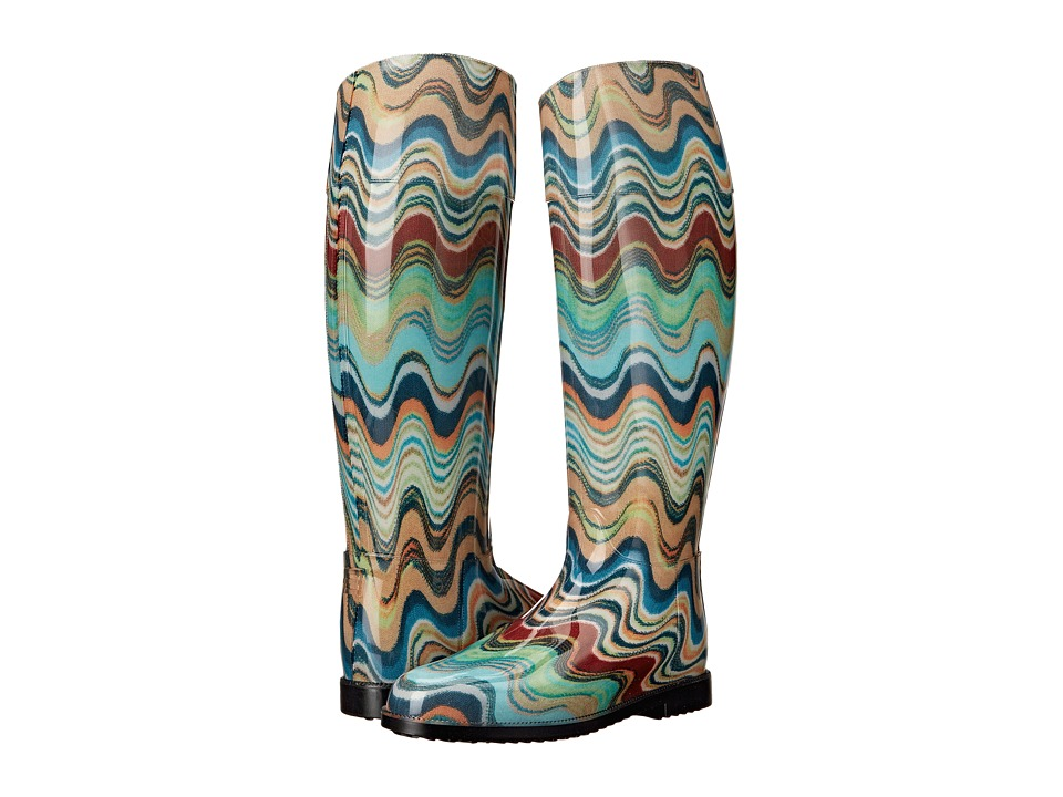Missoni Rain Boot Blue Womens Rain Boots