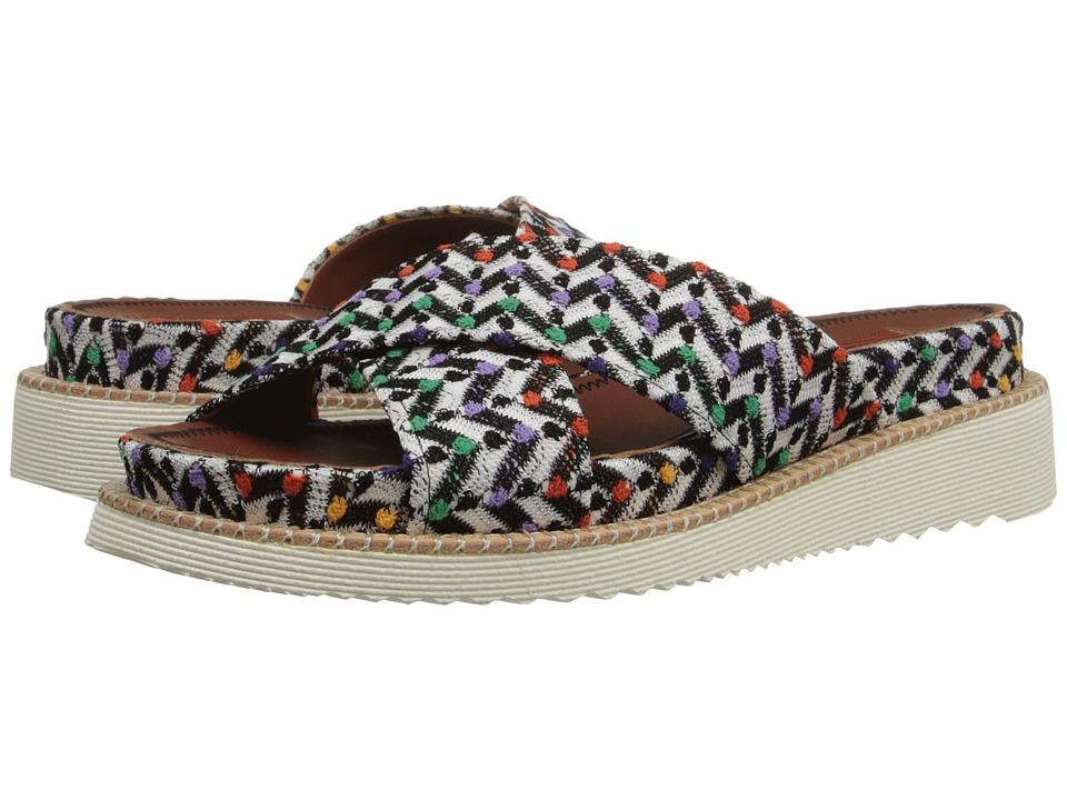 Missoni Raschel Flat Slide Turquoise Womens Flat Shoes