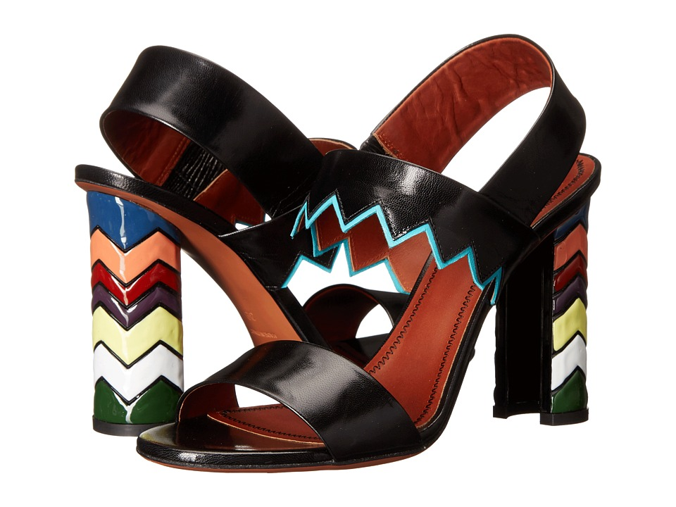 Missoni Ankle Strap Kid Sandal Black Womens Sandals
