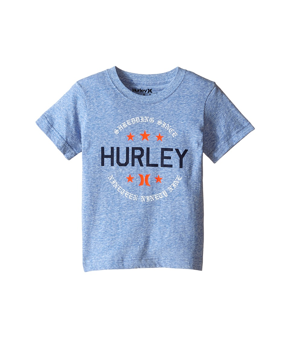 Hurley Kids Simple Man Tee Little Kids Royal Snow Heather Boys T Shirt
