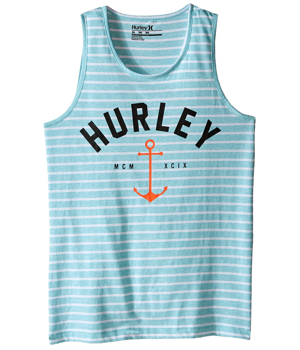 Hurley Kids Anchored Y/D Tank Top Big Kids Copa Heather Boys Sleeveless
