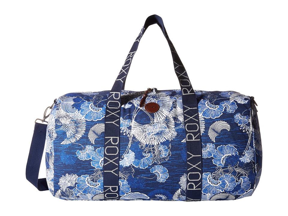 Roxy - Alongside You Duffle Bag (Perpetual Flower Blue Print) Tote Handbags