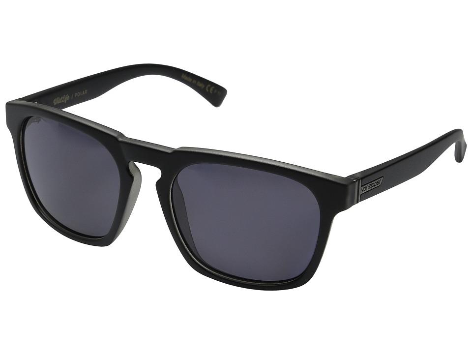 VonZipper Banner Polarized Black Smoke Satin/Grey Wildlife Polar Sport Sunglasses