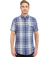 Nautica - Short Sleeve Blue Plaid with Pocket