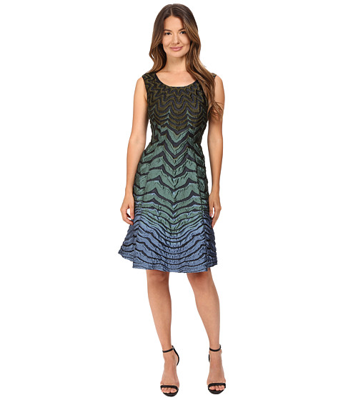 Alberta Ferretti Sleeveless Zigzag Dress
