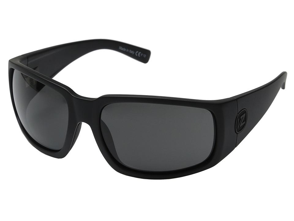 VonZipper Palooka (Black Satin/Grey) Sport Sunglasses