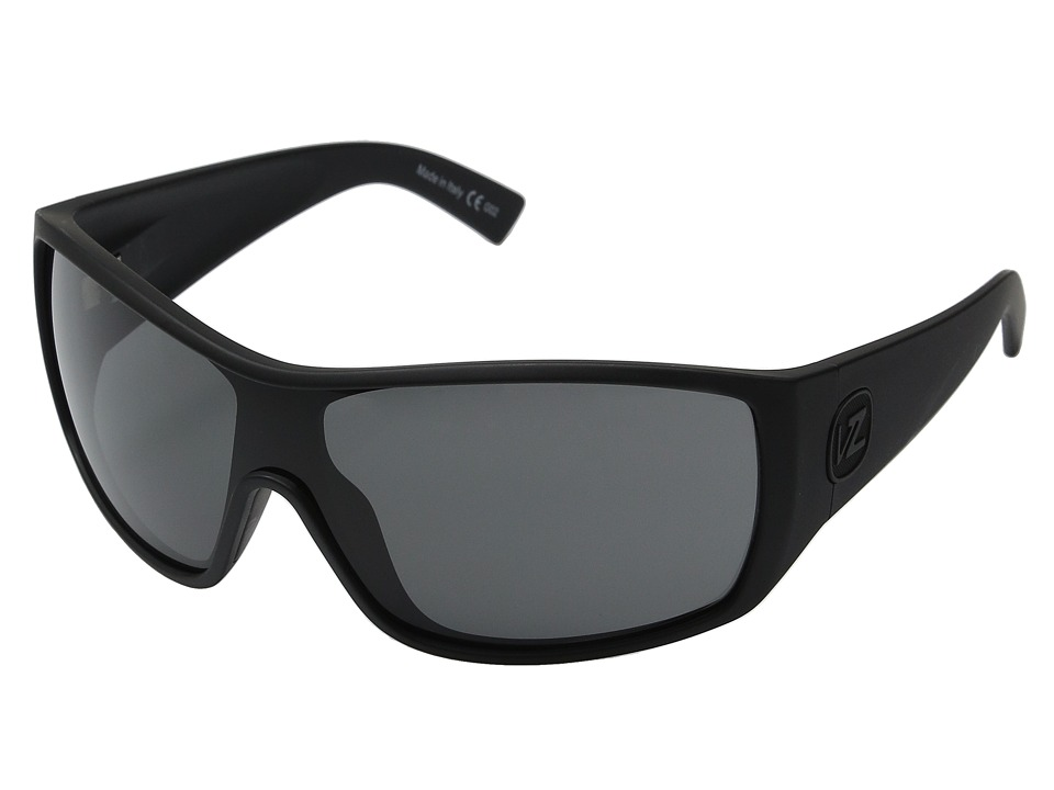 VonZipper Berserker (Black Satin/Grey) Sport Sunglasses