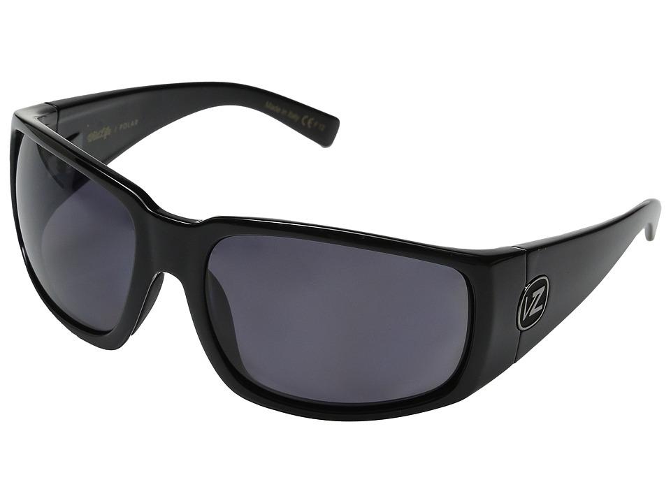 VonZipper Palooka Polarized (Black Gloss/Vintage Grey Wildlife) Sport Sunglasses