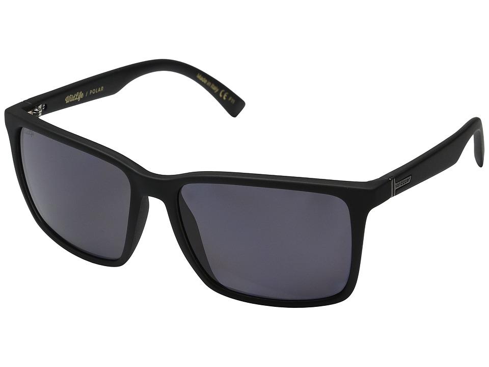 VonZipper Lesmore Polarized Black Smoke Satin/Vintage Grey Wildlife Sport Sunglasses