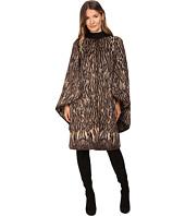 Alberta Ferretti - Leopard Cape Sleeve Open Front Jacket