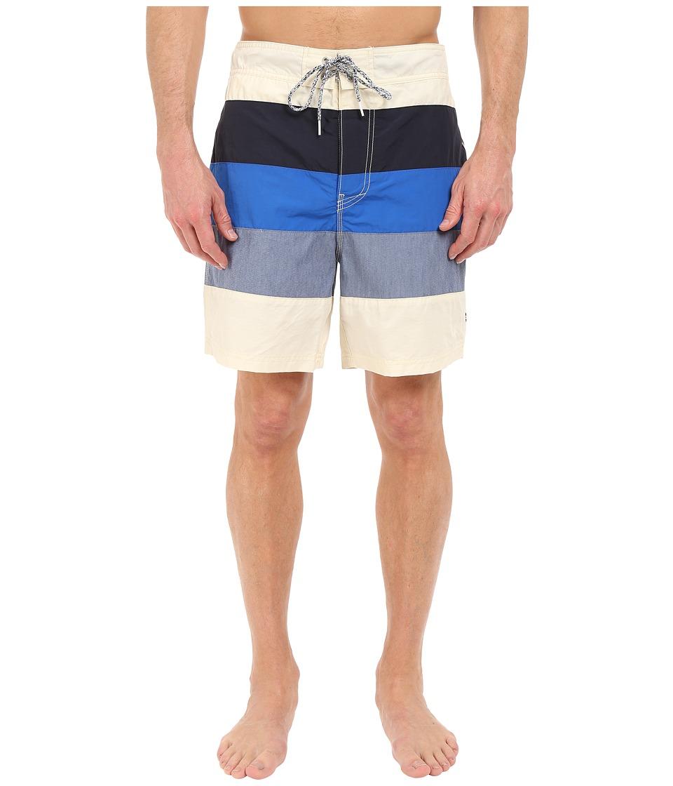Nautica Mix Color Block Trunk Sailcream Mens Swimwear