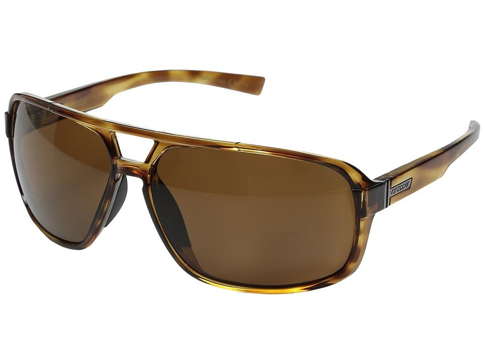 VonZipper Decco Polarized Tort Satin/Bronze Wildlife Polarized Lens Sport Sunglasses