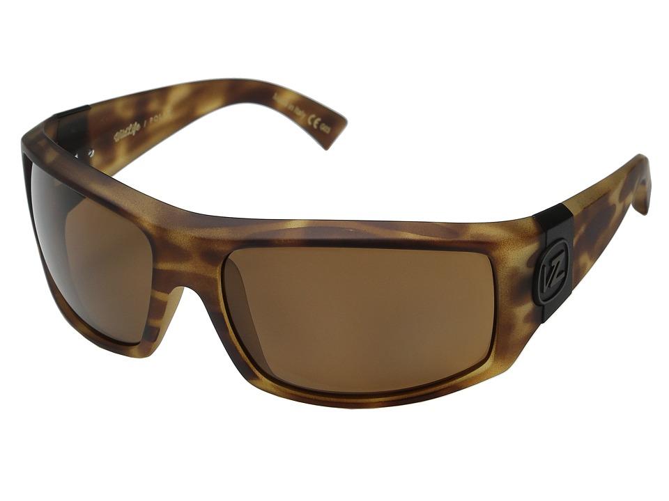 VonZipper Clutch Polarized Tort Satin/Bronze Wildlife Polar Fashion Sunglasses