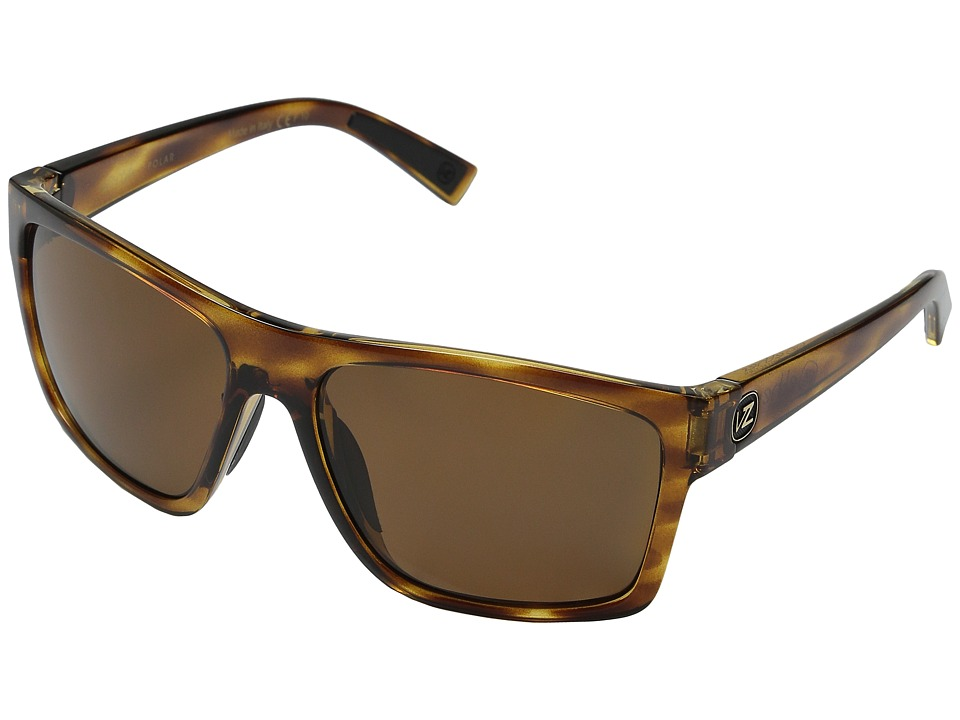 VonZipper Dipstick Polarized Tort Satin/Bronze Wildlife Polar Sport Sunglasses