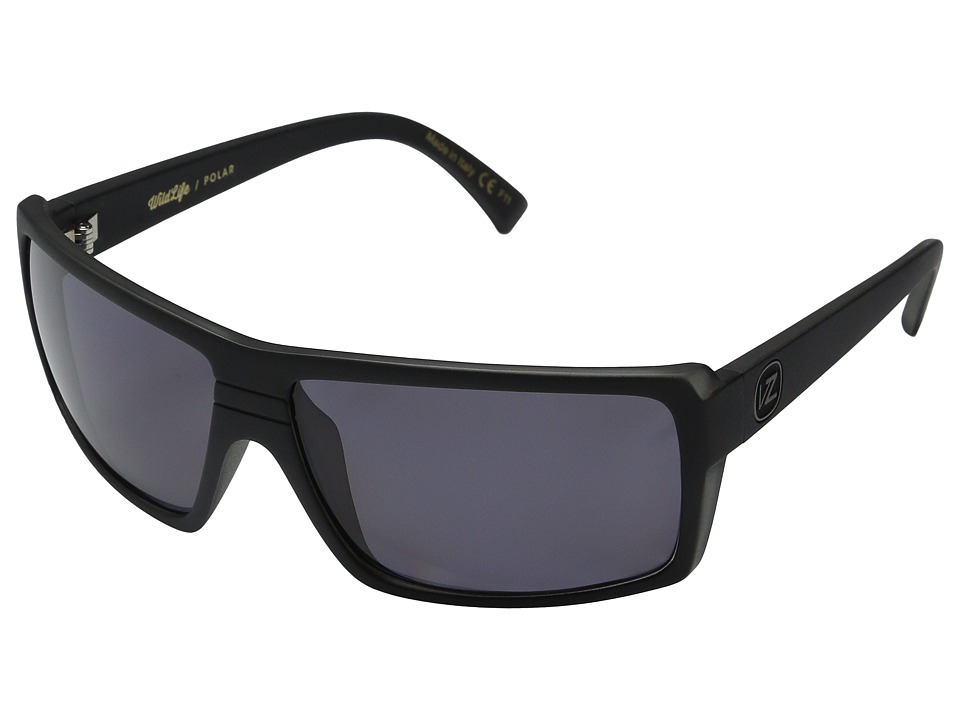 VonZipper - Snark Polarized (Black Smoke Satin/Vintage Grey Wildlife Polarized Lens) Fashion Sunglasses