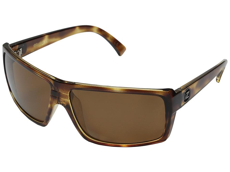 VonZipper Snark Polarized (Tort Satin/Bronze Wildlife Polarized Lens) Fashion Sunglasses