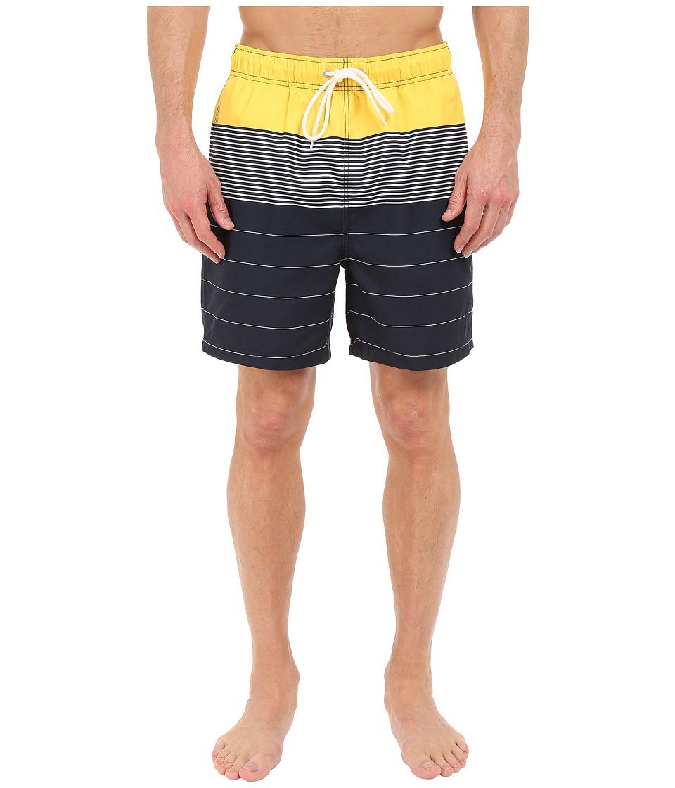 Nautica Engineered Stripe Trunk Marigold Mens Swimwear