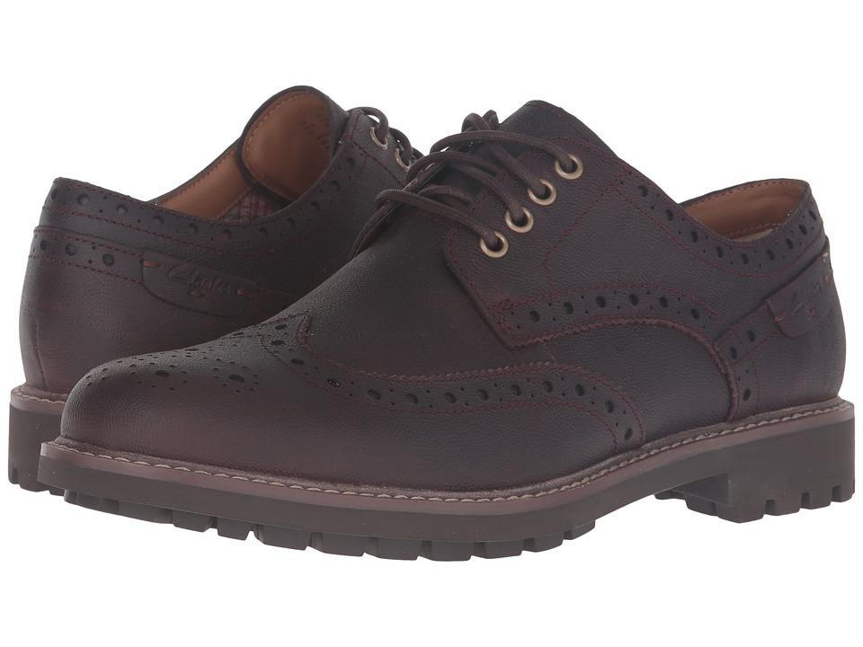 Clarks Montacute Wing (Chestnut Interest Leather) Men