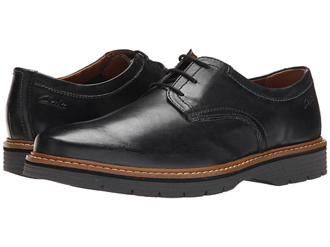 Clarks Newkirk Plain - Black Leather