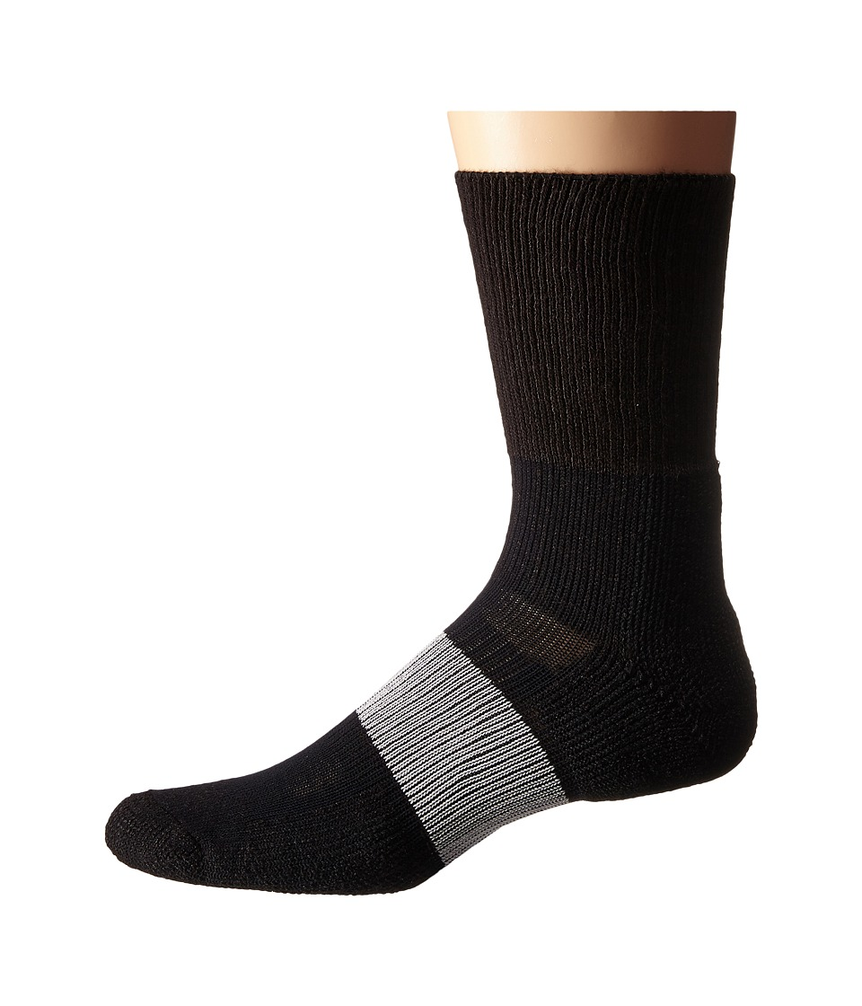 Thorlos Cleated Crew 1 Pack Pair Varsity Black 1 Crew Cut Socks Shoes