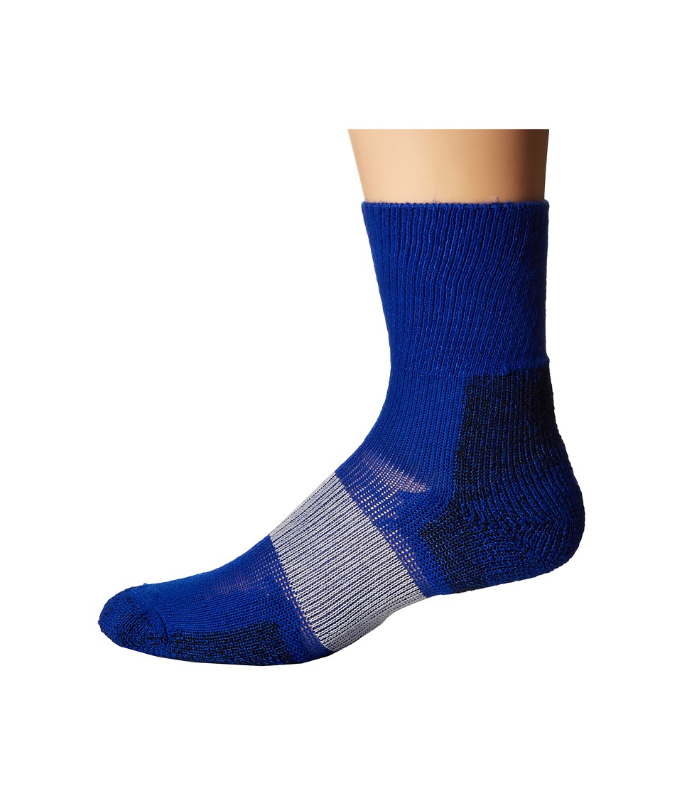 Thorlos Cleated Crew 1 Pack Pair Varsity Royal Crew Cut Socks Shoes