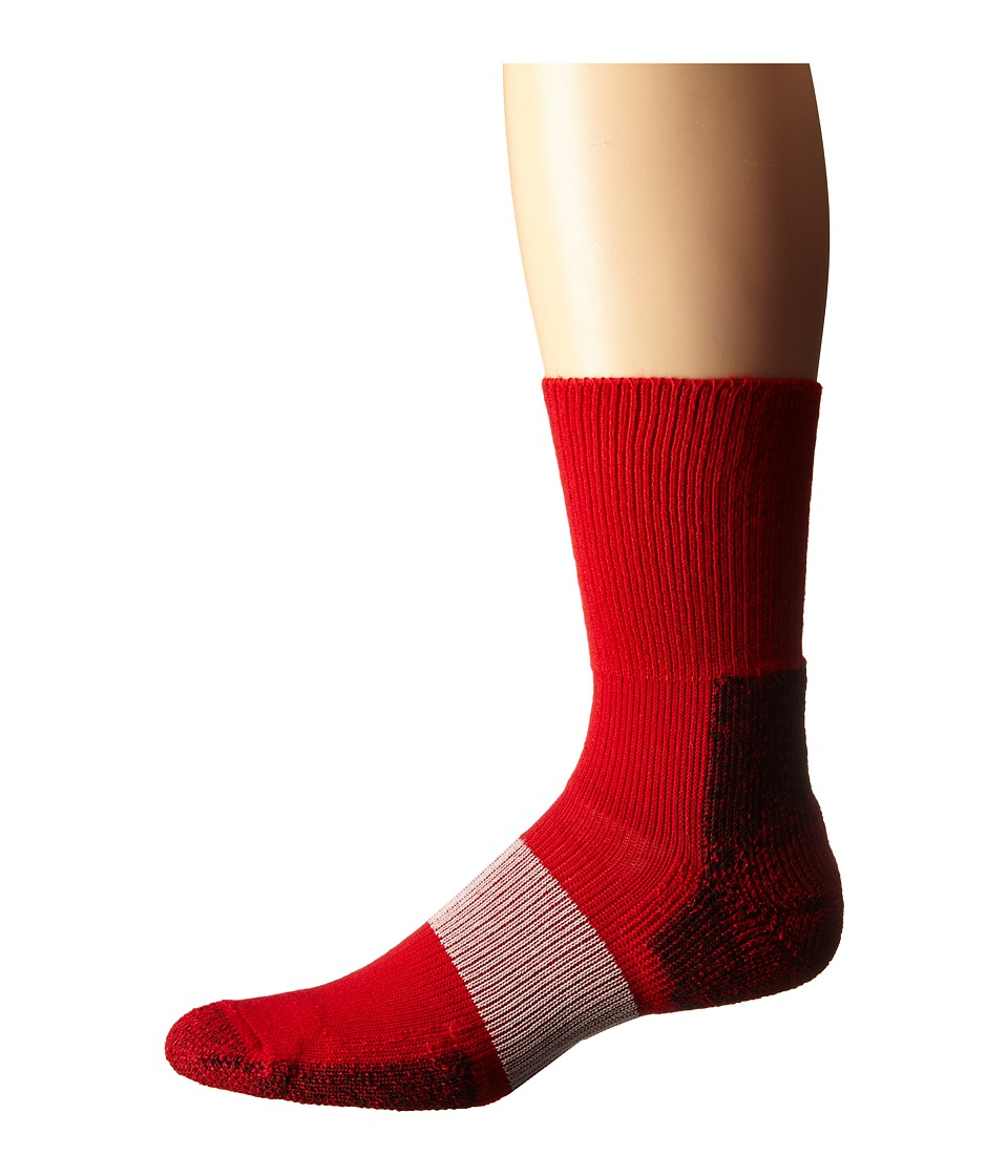 Thorlos Cleated Crew 1 Pack Pair Varsity Red Crew Cut Socks Shoes
