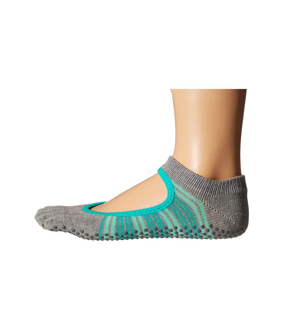 toesox Bella Full Toe w/ Grip Swell Womens No Show Socks Shoes