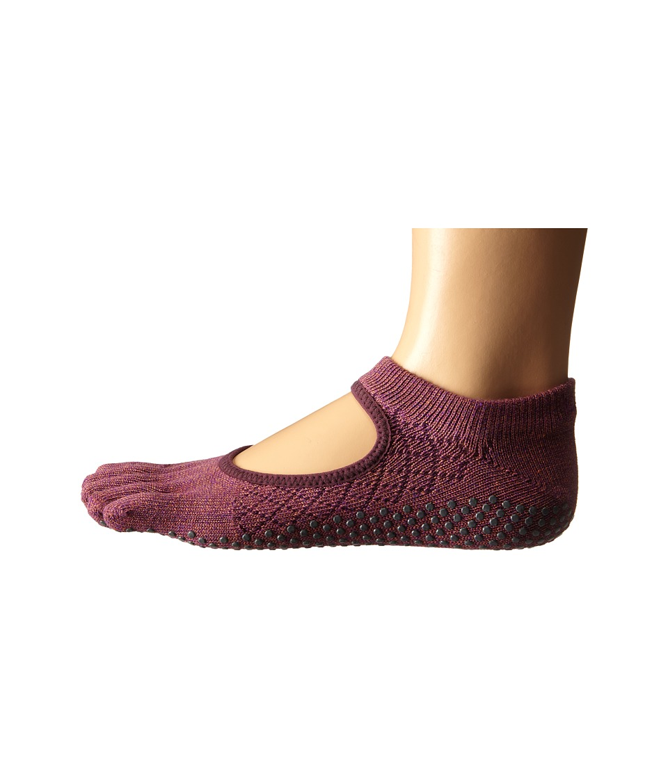 toesox Bella Full Toe w/ Grip Fishnet Luscious Womens No Show Socks Shoes