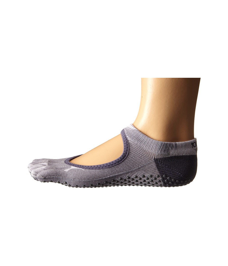 toesox Bella Full Toe w/ Grip Nightshade Womens No Show Socks Shoes