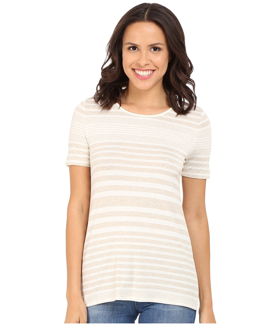 Three Dots - Kameko Rolled Sleeve Tee (Natural) Women