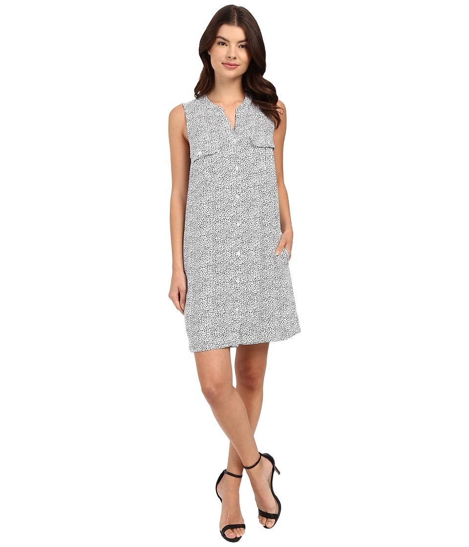 Three Dots Maggie Sleeveless Shirtdress White Womens Dress