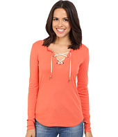 Three Dots - Bettina Long Sleeve Lace Up Top