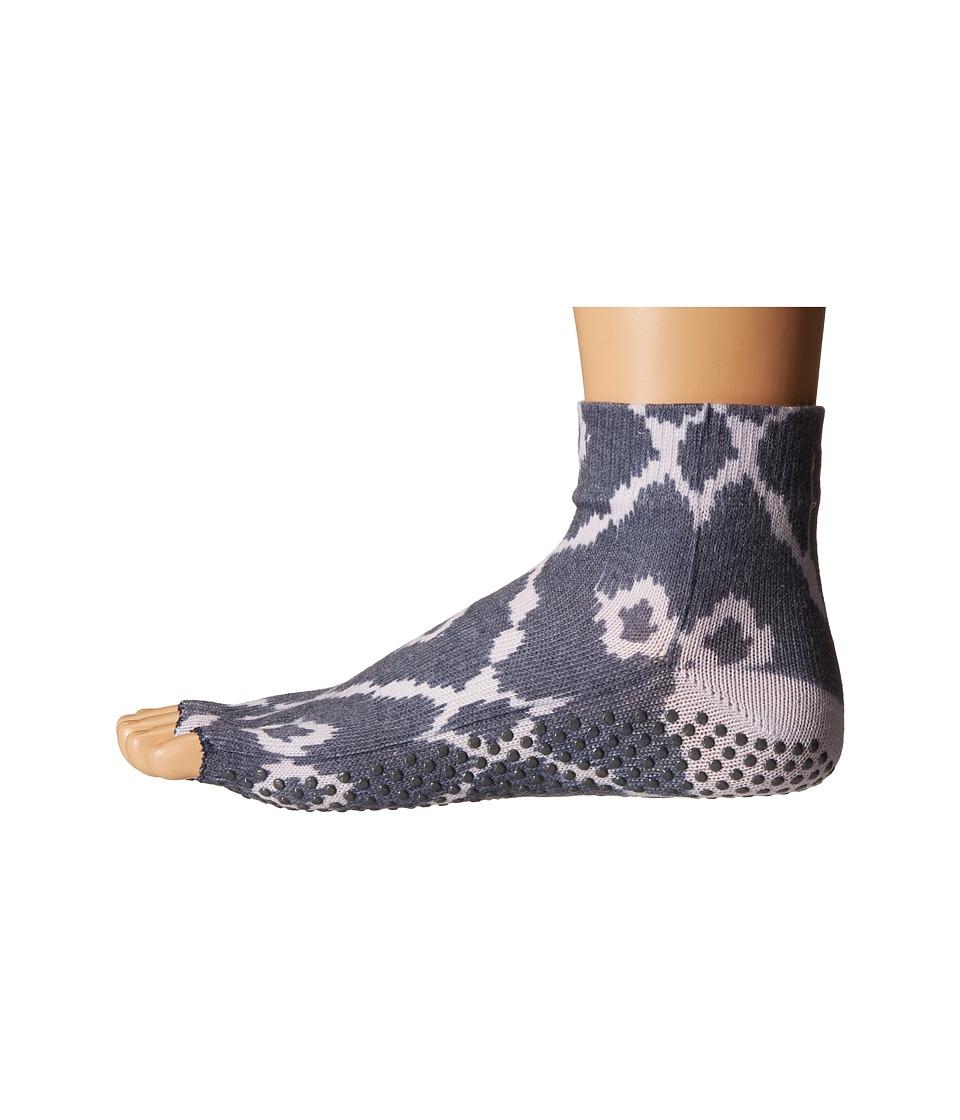 toesox Ankle Half Toe w/ Grip Haze Womens Quarter Length Socks Shoes