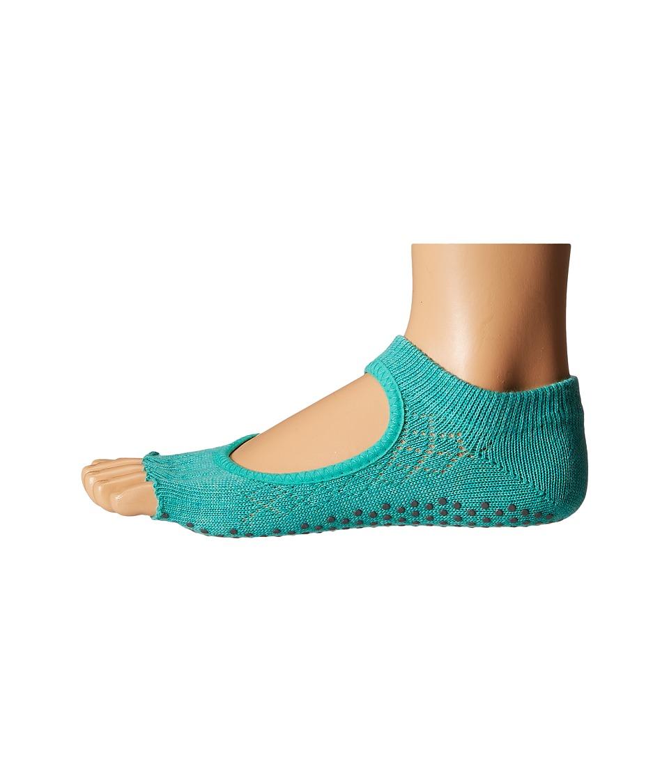 toesox Bella Half Toe w/ Grip 1 Pair Pack Fishnet Lagoon Womens Low Cut Socks Shoes