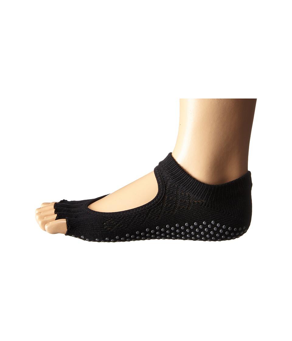 toesox Bella Half Toe w/ Grip 1 Pair Pack Fishnet Black Womens Low Cut Socks Shoes
