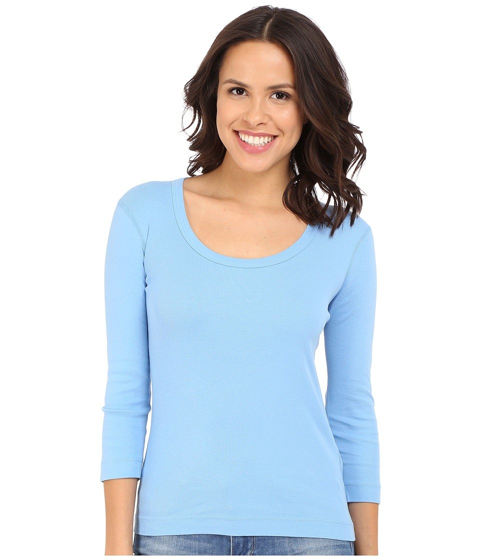 Three Dots - 3/4 Sleeve Scoop Neck (Marina Sky) Women