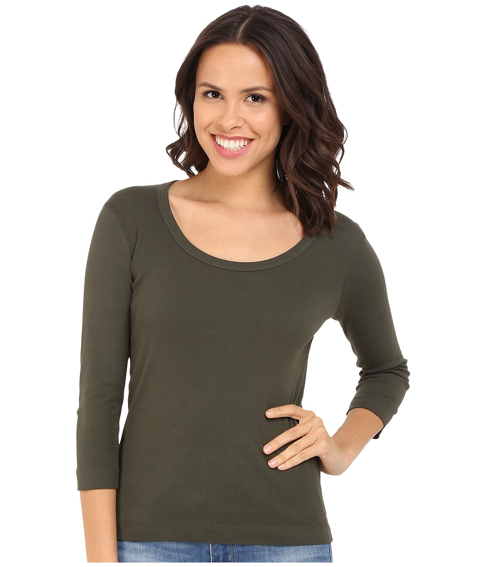 Three Dots - 3/4 Sleeve Scoop Neck (Sweet Fern) Women