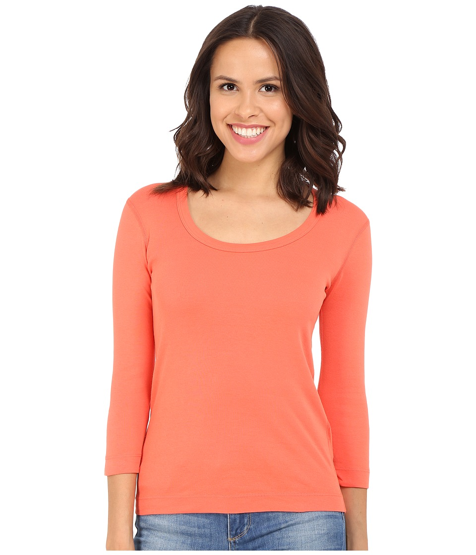 Three Dots - 3/4 Sleeve Scoop Neck (Emberglow) Women