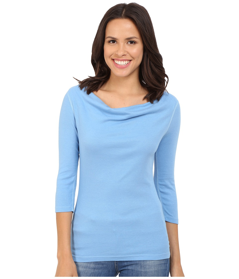 Three Dots - 3/4 Sleeve Cowl Neck Top (Marina Sky) Women
